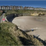 Cullercoats Beach just a mile down the road