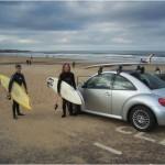 Surfing at Tynemouth